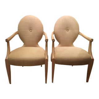 Pair of Designer Chairs by Donghia - Carlyle