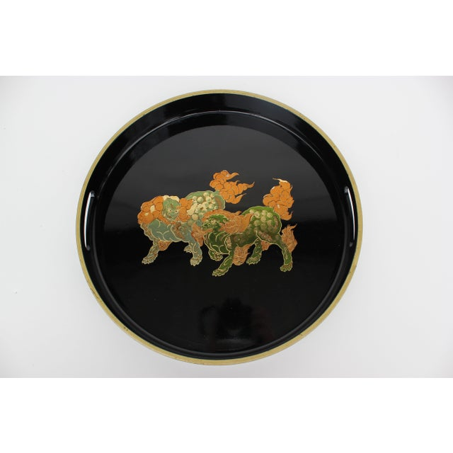 Image of Foo Dog Round Serving Tray