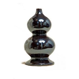 Vintage Silver Curved Glass Vase