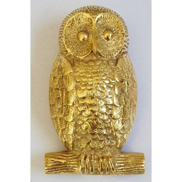Image of Mid-Century Brass Owl Door Knocker