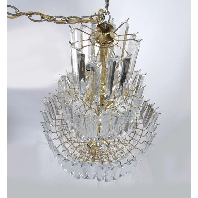 7-Tier Brass & Lucite Chandelier - Image 7 of 11