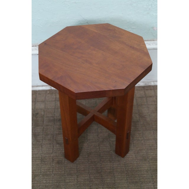 Stickley Mission Style Cherry Side Table (A) - Image 3 of 10