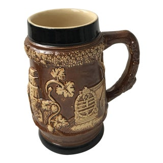 Ceramic Beer Stein Raised Decorations