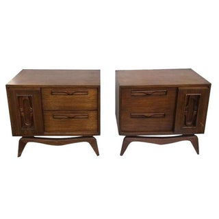 Danish Modern Bedside Tables - A Pair