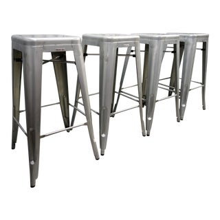 Tolix-Inspired Marais Industry West Bar Stools - Set of 4