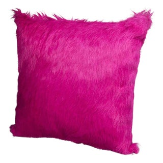 Azalea Hair on Hide Pillow