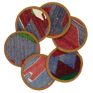 Talih Kilim Coasters - Set of 6
