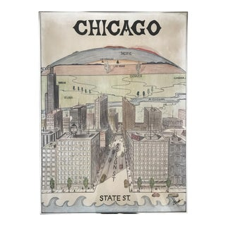 Hand Painted Chicago Map