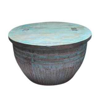 Blue Grain Barrel Coffee Table