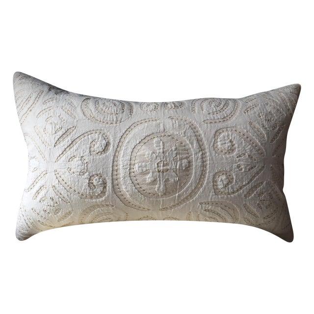 """Well-Traveled"" Suzani Pillow - Image 1 of 4"