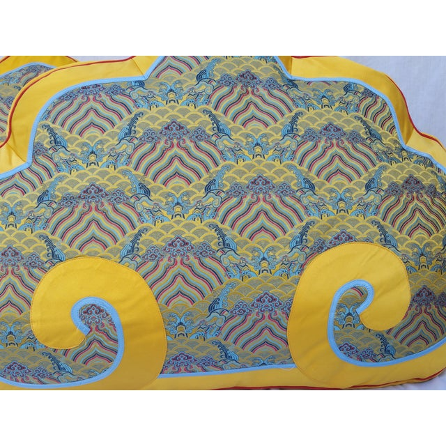 Chinese Silk Bed Pillows - Pair - Image 3 of 5