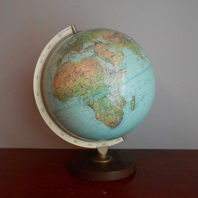 Mid-Century Relief Globe - Image 2 of 8