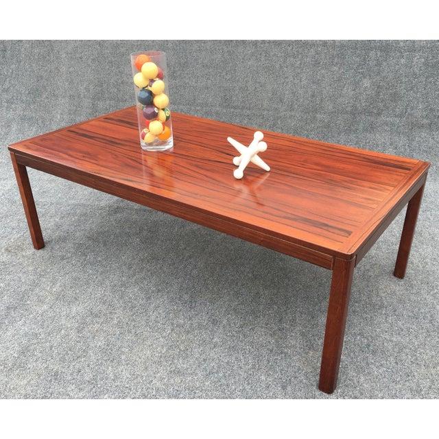 Vintage Mid Century Danish Modern Large Rosewood Coffee