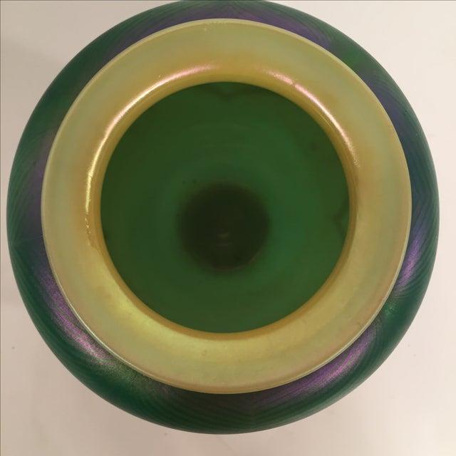 Richard Satava Green Art Glass Vase, C. 1979 - Image 6 of 9