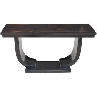French Art Deco Exotic Macassar Ebony Console
