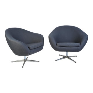 Overman Pod Swivel Chairs - A Pair