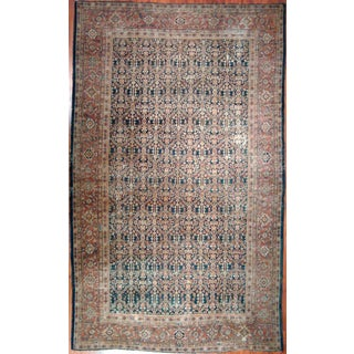 "Distressed Antique Mahal Rug - 7'4"" X 10'8"""