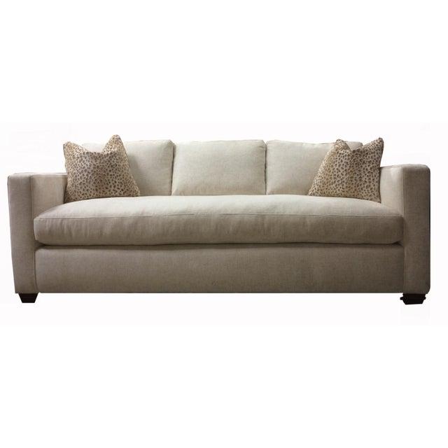 Slipcover Tuxedo Sofa: Custom Made White Tuxedo Sofa
