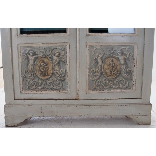 Italian Early 20th Century Painted Bibliotheque - Image 6 of 10