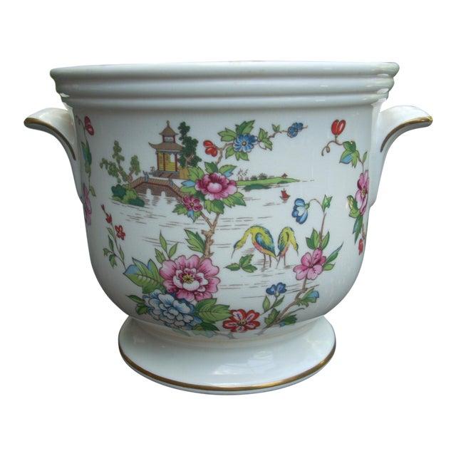 Image of Vintage Staffordshire Crown Cachepot