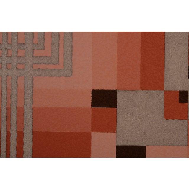 Image of Silver Art Deco Geometric Wallpaper Sample