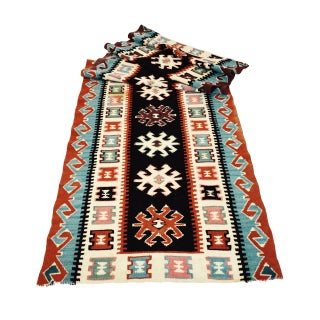 "Turkish Handwoven Wool Kilim Runner, 2' 5"" x 8' 6"""