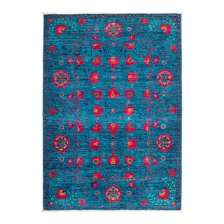 """Suzani Hand Knotted Area Rug - 4' 3"""" X 6' 0"""""""