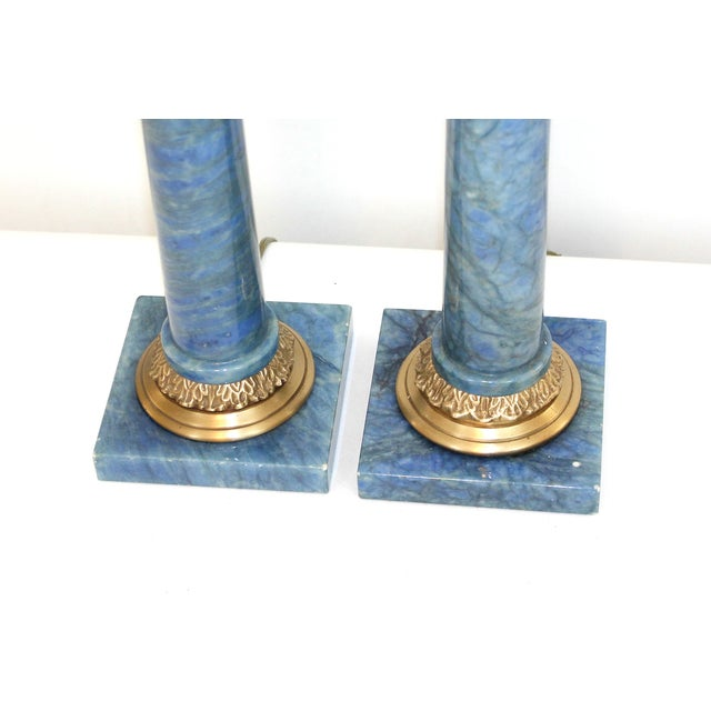 Hollywood Regency Neoclassical Column Lamps - Pair - Image 3 of 9
