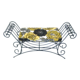 Scrolled Wrought Iron Two-Seater Bench