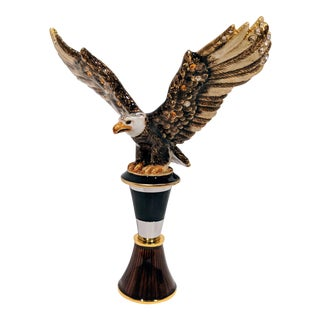 Jay Strongwater Eagle Bottle Stopper & Stand