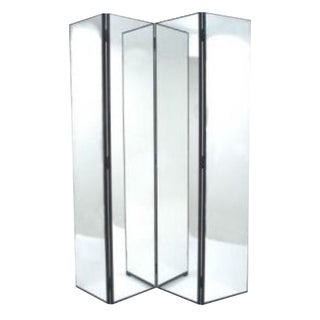 Four Panel Mirrored Screen
