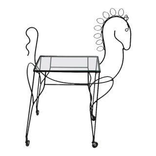 Mid-Century Modern Horse-Form Bar Cart by Frederick Weinberg