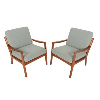 Ole Wanscher Teak Senator Lounge Chairs - A Pair