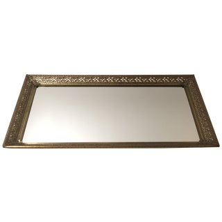 Brass Filigree Mirrored Tray