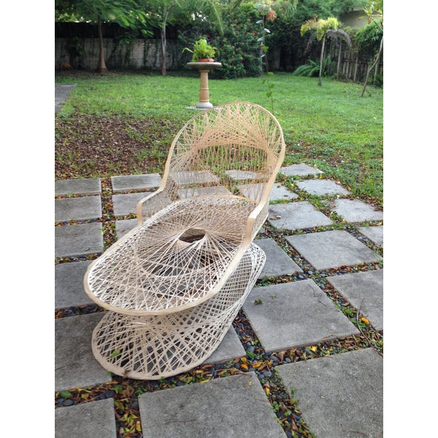 Russell woordard fiberglass patio lounge chaise chairish for Chaise de patio