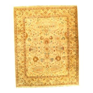 "Pasargad N Y Fine Agra Hand-Knotted Yellow Rug - 8'2"" X 10'3"""