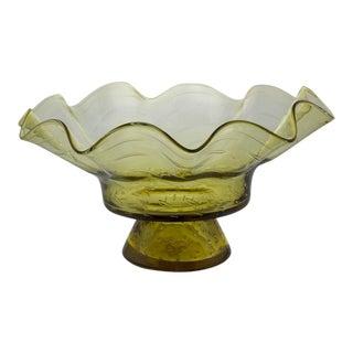 Ruffled Shape Blenko Bowl