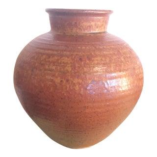 Mid-Century Modern Round Brown Vase