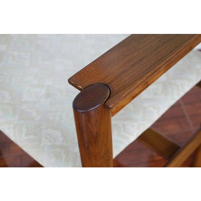 Vintage Walnut Armchairs - A Pair - Image 5 of 8