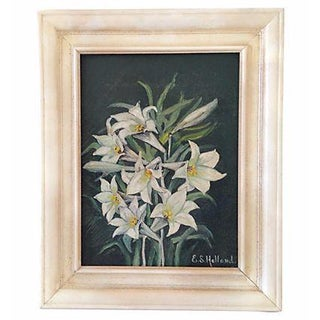 Mid-Century Lilies Oil Painting