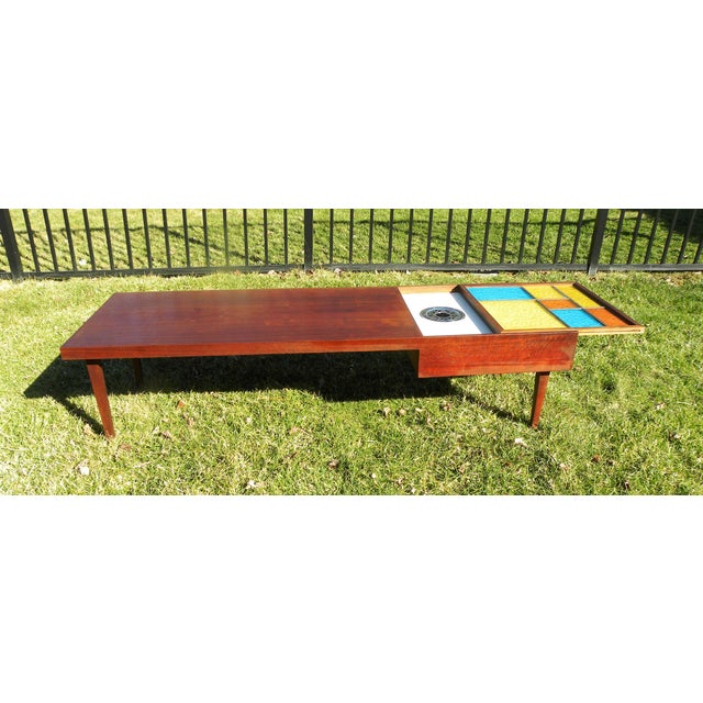 Mid-Century Coffee Table W/ Built-In Fondue Stove - Image 3 of 8