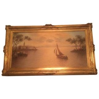 Mario Rossi Original Sailboat Oil Painting