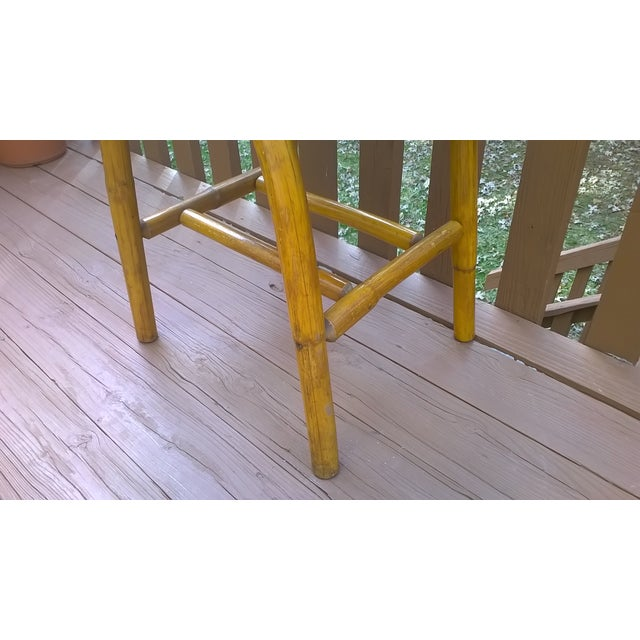 Vintage Bamboo Bent Wood Rattan Table - Image 6 of 6