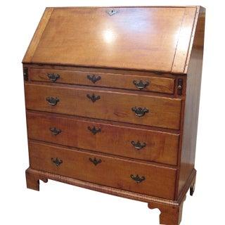 Tiger Maple Slant-Front Desk