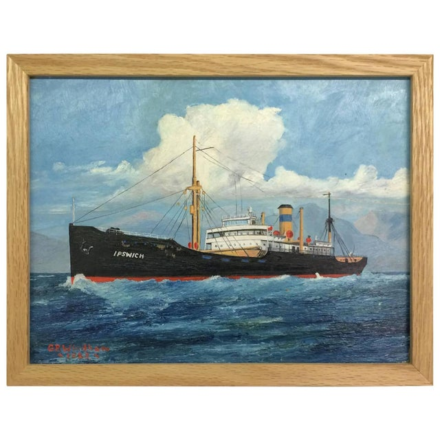 Image of G.R. Windham Painting of Ship Signed