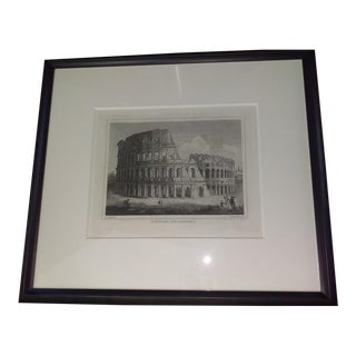 18th Century Monochrome Colosseum Etching