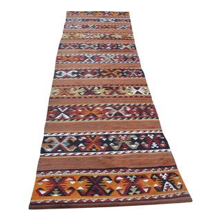 "Turkish Floor Kilim Runner - 2'7"" x 13'9"""