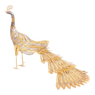 Sterling Silver Peacock Figure