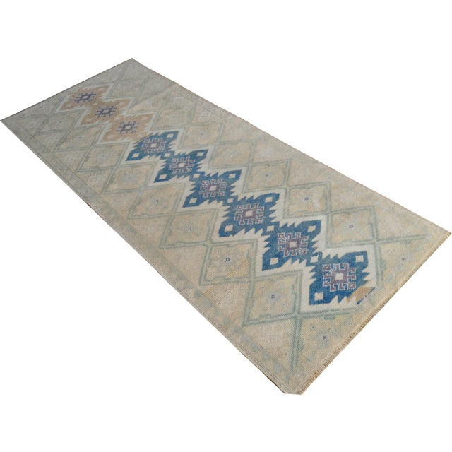 "Hand-Knotted Turkish Rug - 2'8"" x 6'9"" - Image 1 of 9"