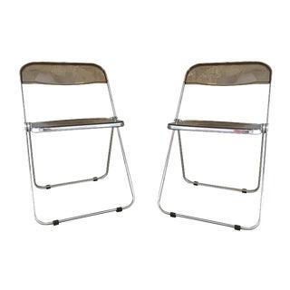Plia Folding Chairs by Giancarlo Piretti - A Pair
